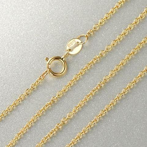14K Yellow Gold Chain Necklace - atperry's healing crystals