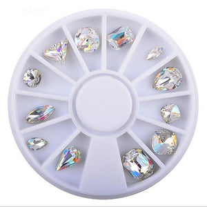 12 Style Crystal Diamond Nail Art Decoration - atperry's healing crystals
