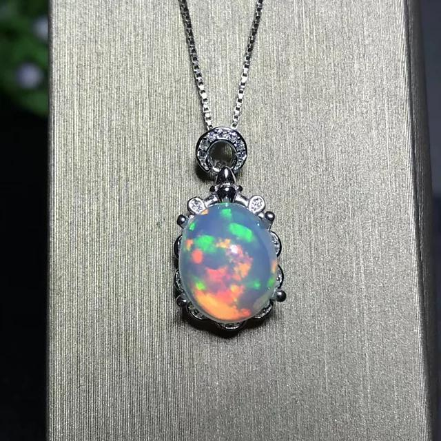 100% Natural Ethiopian Fire Opal Necklace