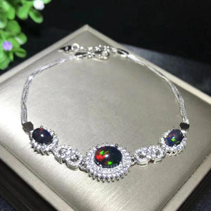 Stylish Natural Ethiopian Fire Opal Bracelet