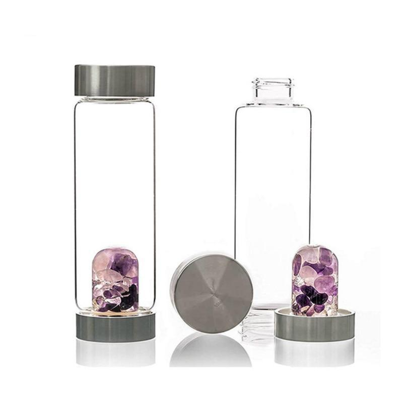 Natural Energy Crystal Water Bottle - atperry's healing crystals