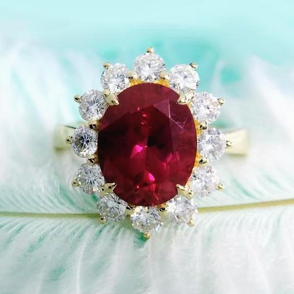 Genuine 14k Yellow Gold Ruby Ring