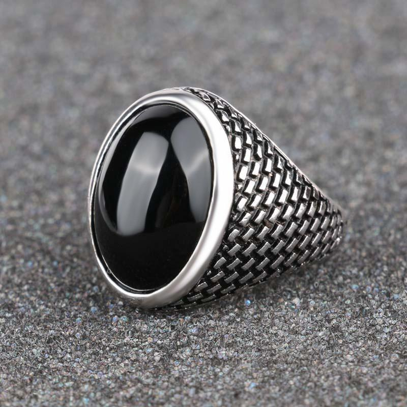 Black Sapphire MEN Ring   AtPerrys Healing Crystals   1