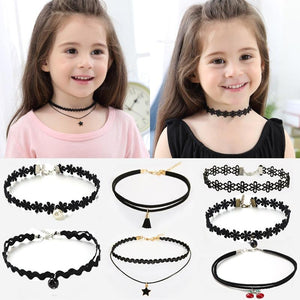 Fashion Pretty Girls Choker Necklace Set - For Kids