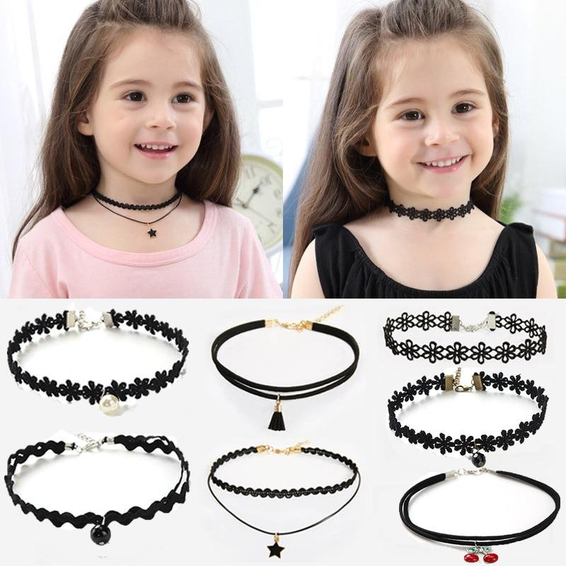Fashion Pretty Girls Choker Necklace Set - For KidsNecklace