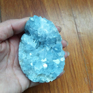 100% Natural Celestine Crystal Stone - atperry's healing crystals