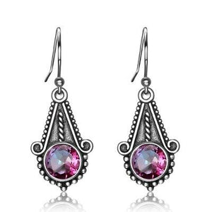 Adorable Rainbow Mystic Topaz Drop Earrings - 925 Sterling SilverEarrings