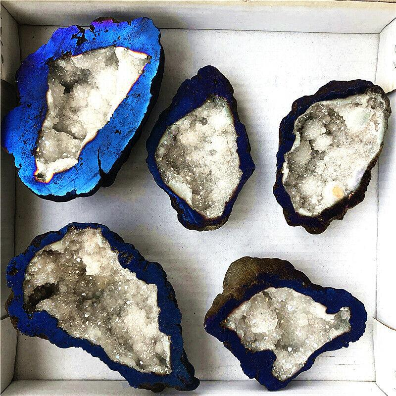 Natural Quartz Blue Agate Stone - atperry's healing crystals