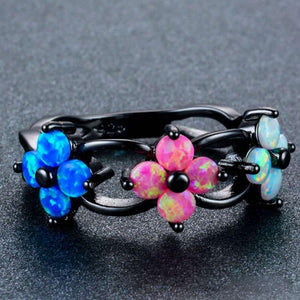 Natural Flower Opal Charm Ring - atperry's healing crystals