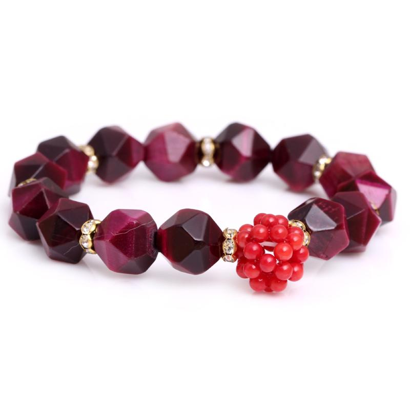 Natural Red Tiger Eye Agate Bracelet
