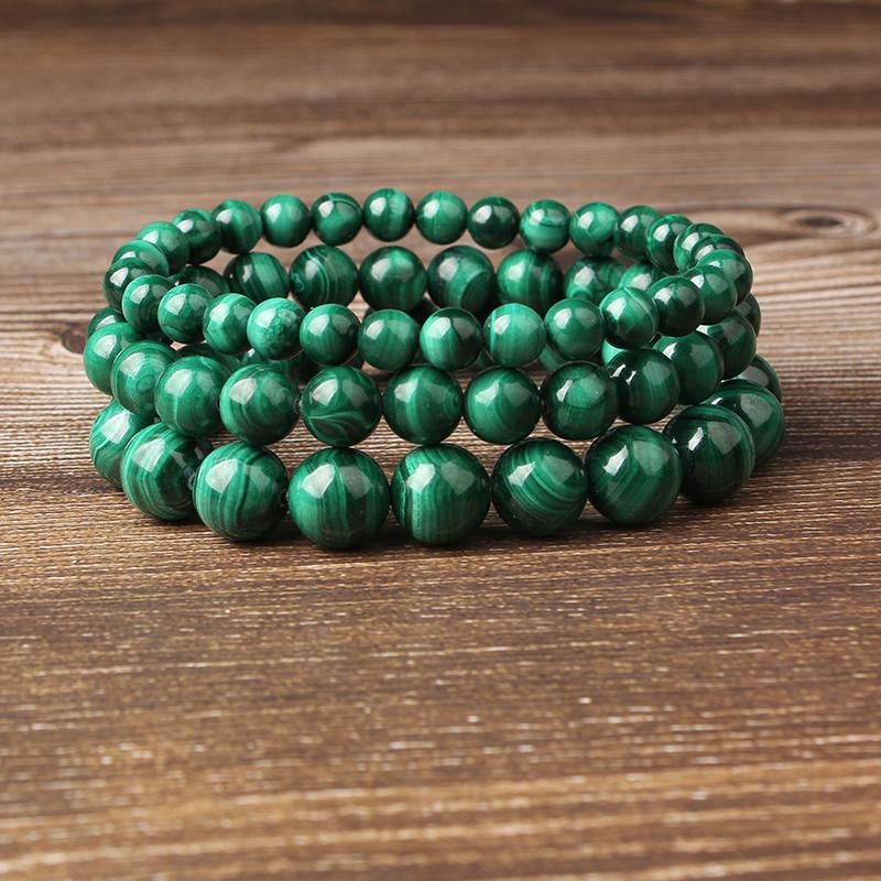 Natural Green Malachite Stone Beads - atperry's healing crystals