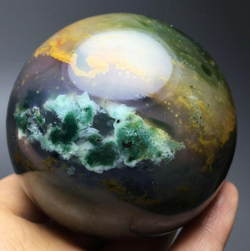 100% Natural Ocean Jasper Crystal Ball (487g) - atperry's healing crystals