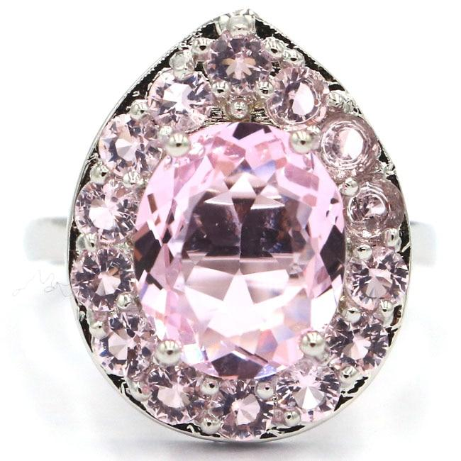Deluxe Pink Kunzite Rin - 925 Sterling Silver - atperry's healing crystals