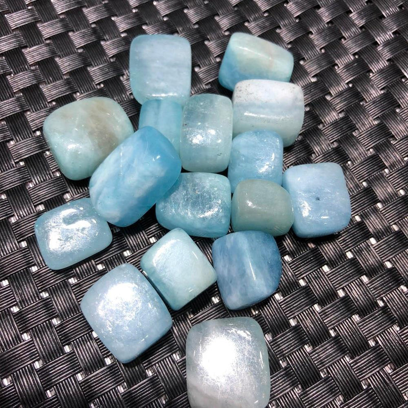 Natural Aquamarine Tumbled Crystal Stonesraw stone
