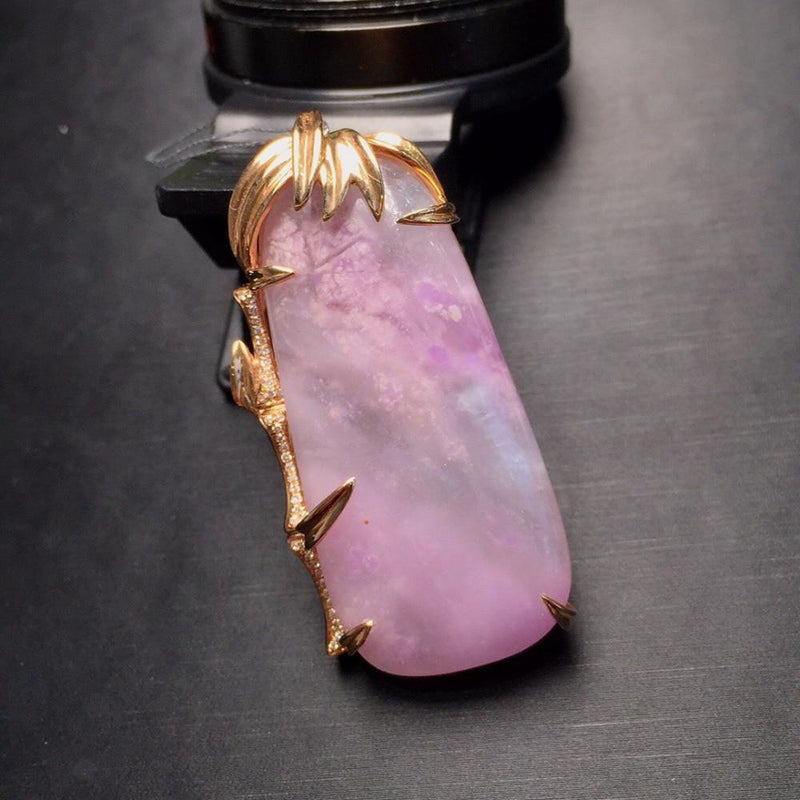 100% Natural 18K Gold Sugilite Pendant - atperry's healing crystals