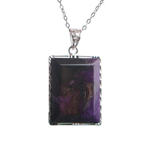 Natural Sugilite Crystal Stone Pendant - atperry's healing crystals