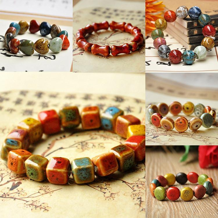 Ethnic Vintage Ceramic Beads - atperry's healing crystals