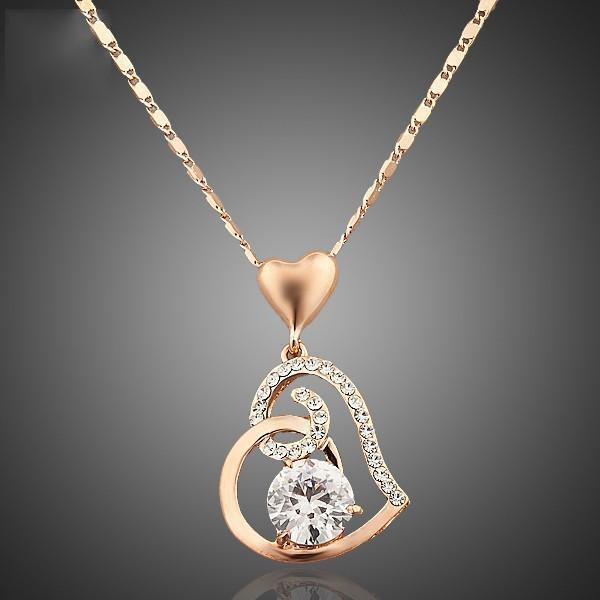 Rose Gold Heart Pendant AtPerrys Healing Crystals