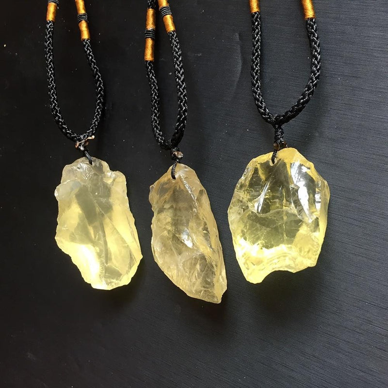 Classic Natural Citrine Stone Pendant - atperry's healing crystals