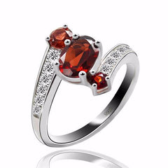 Genuine Garnet Ring   925 Sterling Silver   matans store.myshopify.com