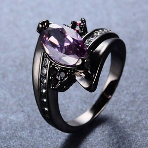 Amethyst Horse Eye Ring - atperry's healing crystals