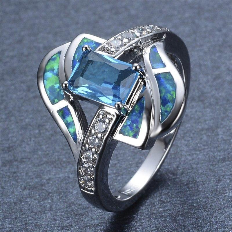 Blue Sapphire Opal Ring - AtPerrys Healing Crystals - 1