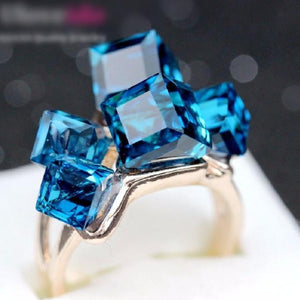 Blue Topaz Ring   AtPerrys Healing Crystals   1