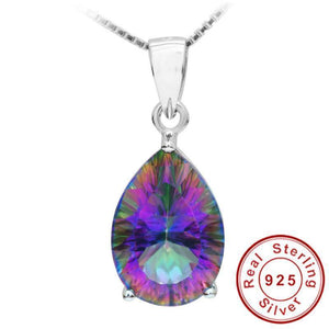 Genuine Rainbow Fire Mystic Topaz Sterling Silver PENDANT (Without Chain)   AtPerrys Healing Crystals   1