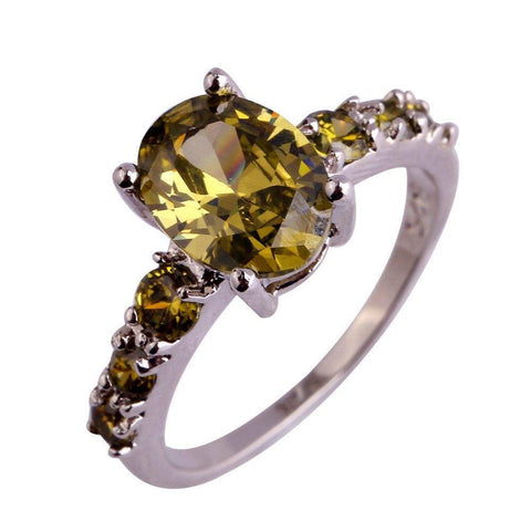 Peridot Silver Sterling 925 Ring - AtPerrys Healing Crystals - 1