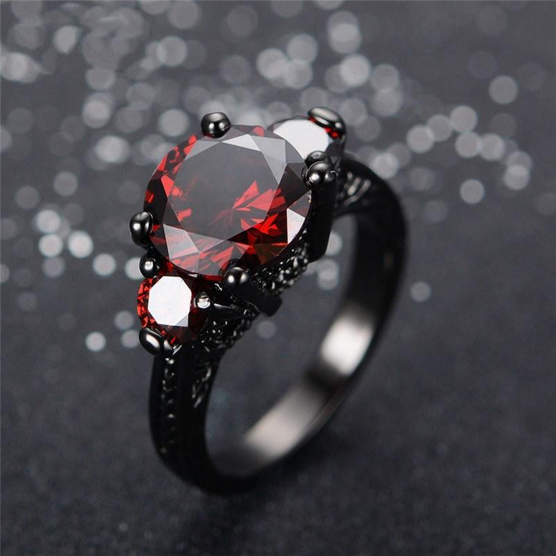 Ruby Black Gold Filled Ring - atperry's healing crystals