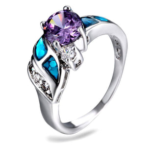 Silver Amethyst Ring Size 7 8 9Ring7