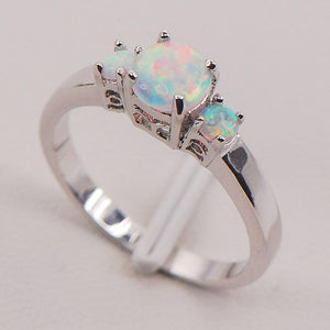 White Fire Australian Opal Ring - atperry's healing crystals