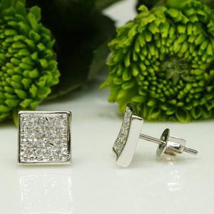 Zircon Stud Earrings Set in Silver - atperry's healing crystals