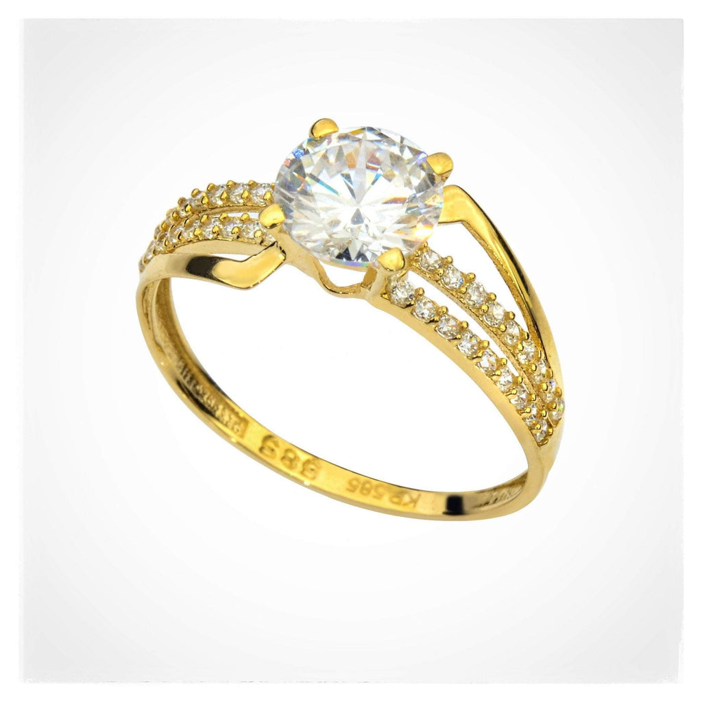 Venice Ring - 14K Real Yellow Gold Cocktail Ring - AtPerry's Healing Crystals™