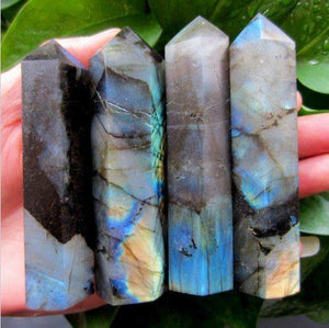 4 Natural Labradorite Wands - 11oz each - atperry's healing crystals