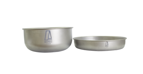 "Two Piece Compact Titanium Pan Set | Small - 8.27"" Big - 7.55"" - CP820"