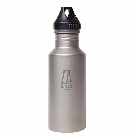 Colossus Titanium Water Bottle with Plastic Cap AND Free Laser Engraving BP155
