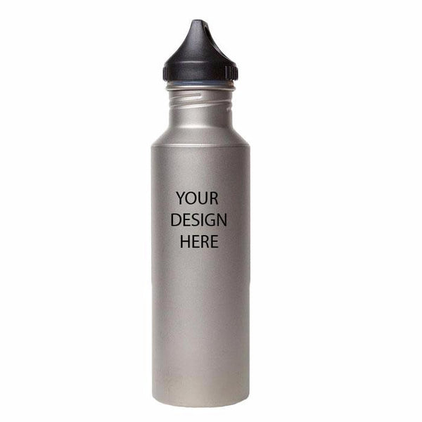 24 oz Titanium Bottle with Plastic Cap and Free Laser Engraving  BP170