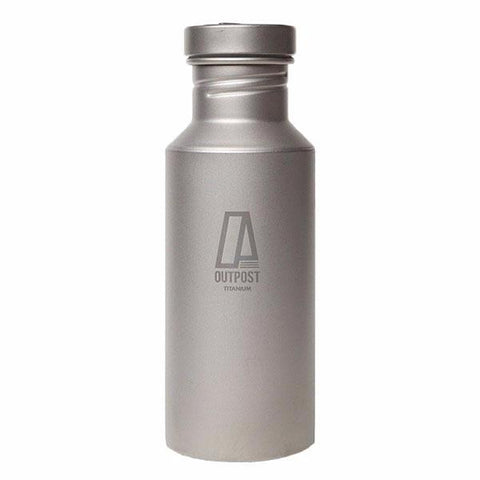 Colossus Titanium Water Bottle with Titanium Cap and Free Laser Engraving BT055
