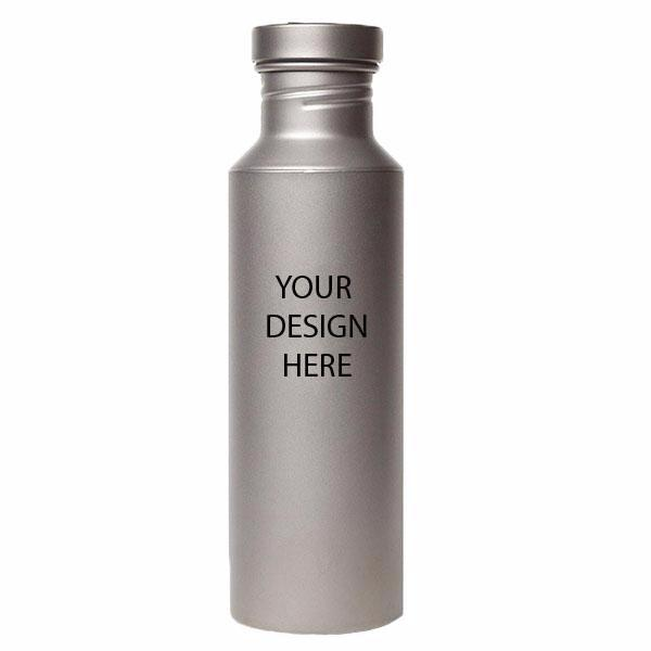 24 oz. Titanium Water Bottle with Titanium Cap And free Laser Engraving BT070