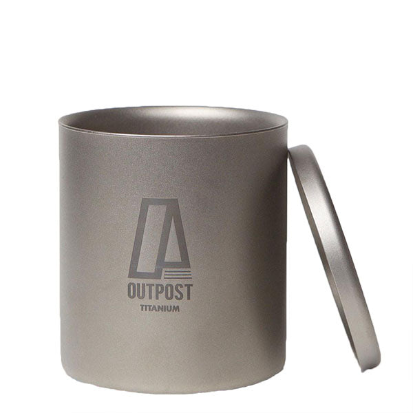 Slim Double Wall Titanium Mug with Titanium Lid and Free Laser Engraving  DC030