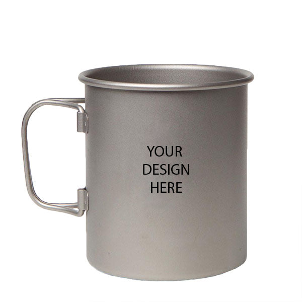 Big Gulp Single Wall Mug with Foldable Handles and Titanium Lid MH045