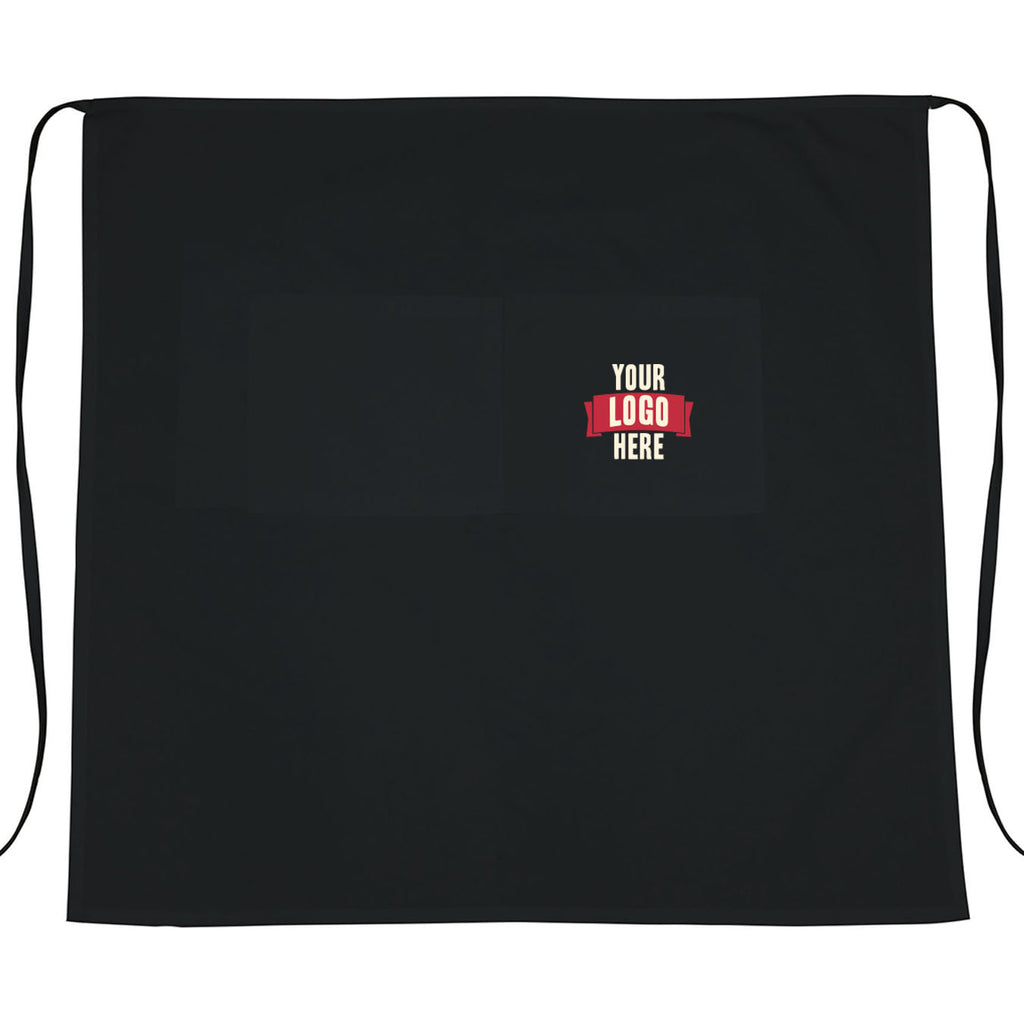 Black Bistro Aprons - Custom Logo Embroidered