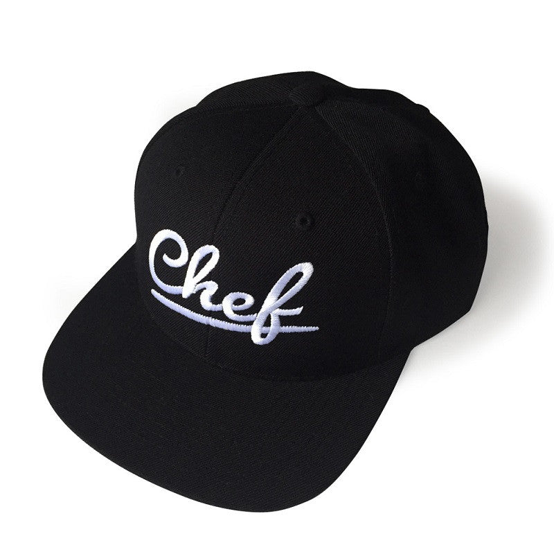 Urban Chef Black Flat Bill  Snapback Hat