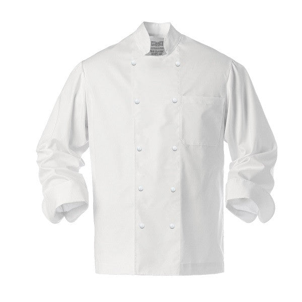 Classic White Chef Coat - Stud Buttons
