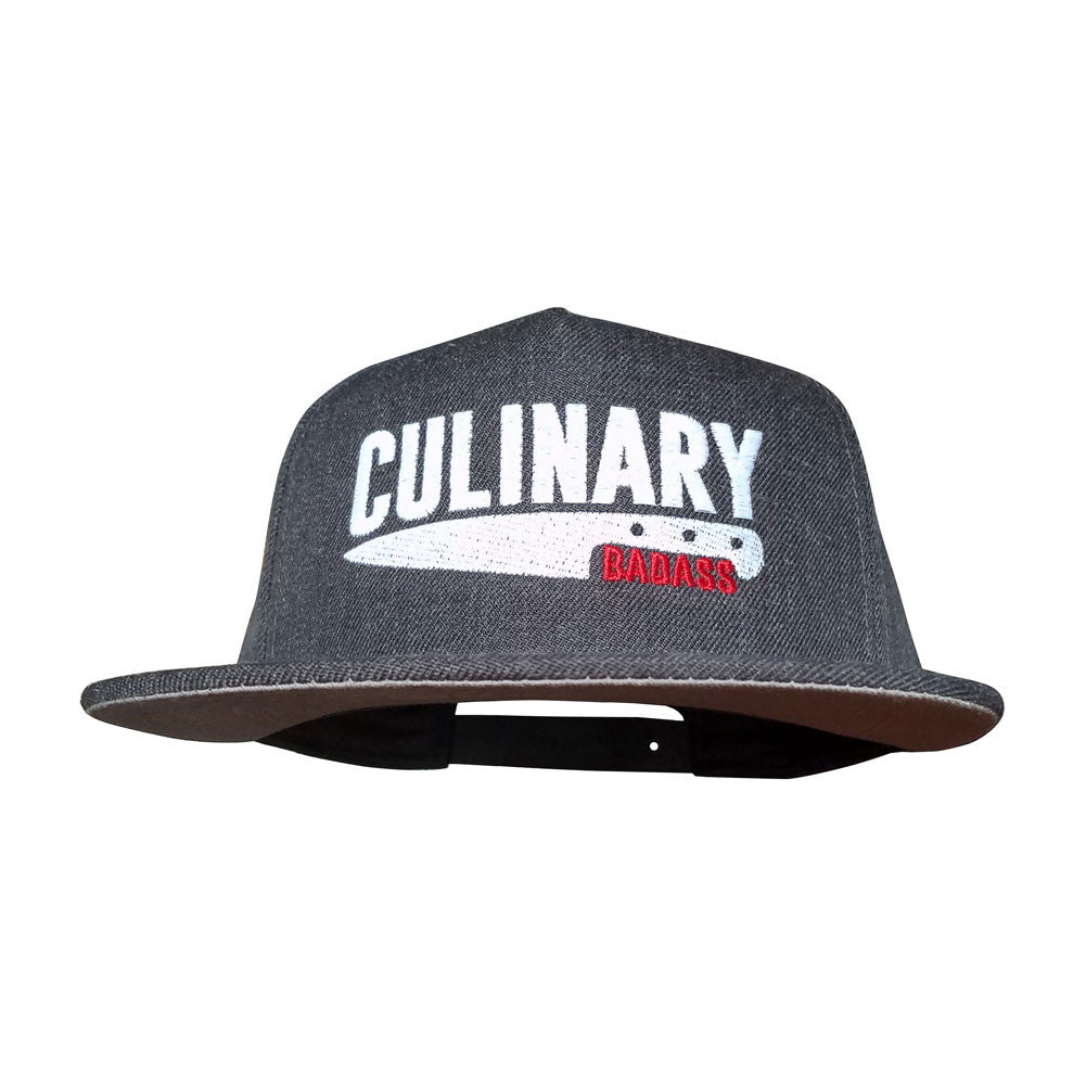 Culinary Badass Dark Heather Flat Bill Snapback