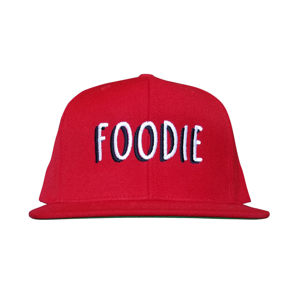 Foodie Red Flat Bill Snapback Hat