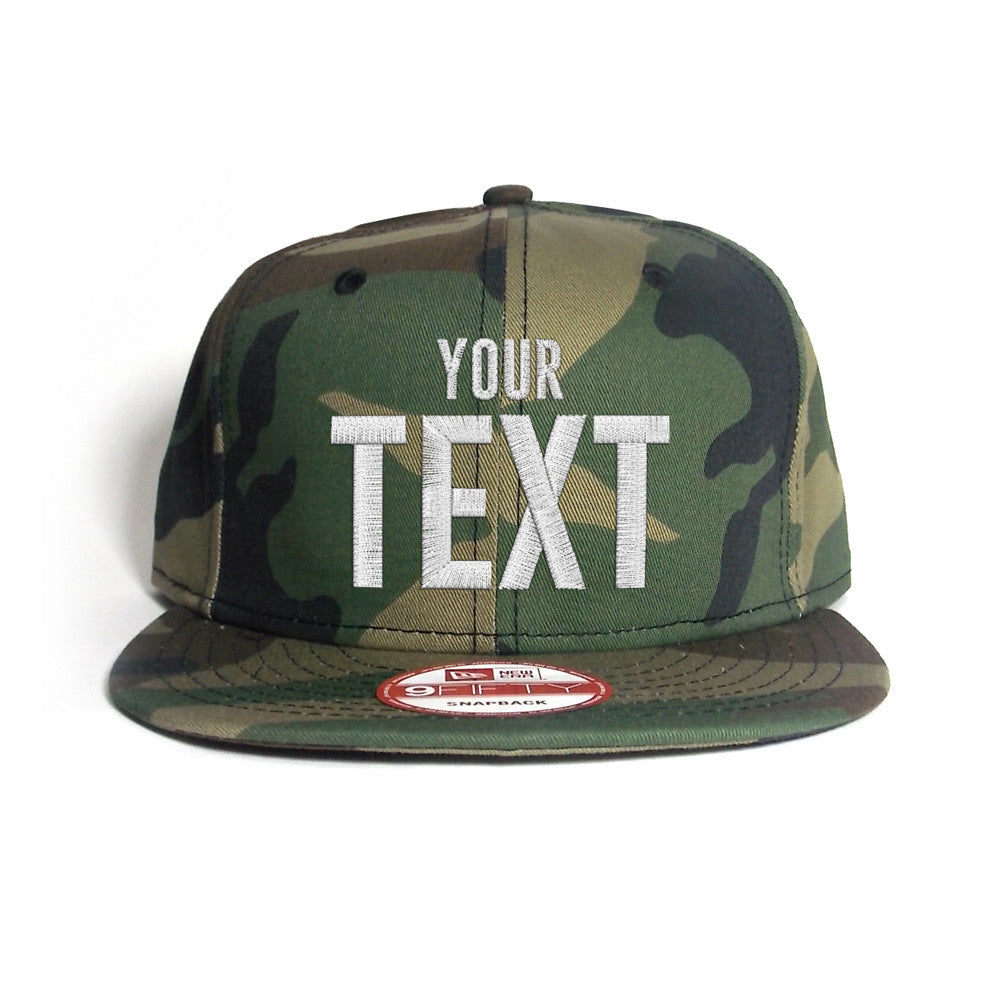 New Era Flat Bill Camo Snapback Cap