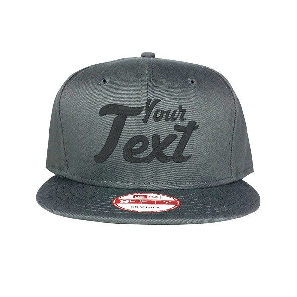 New Era Flat Bill Charcoal Snapback Cap