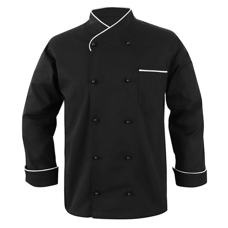 New Style Chef coat White Piping